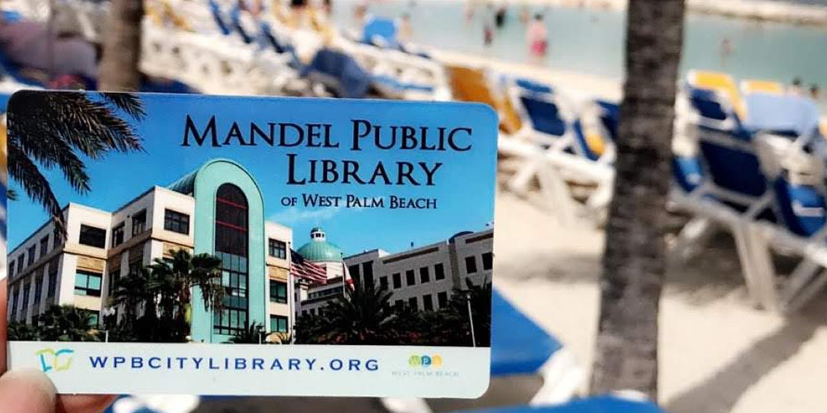 Libary card on beach