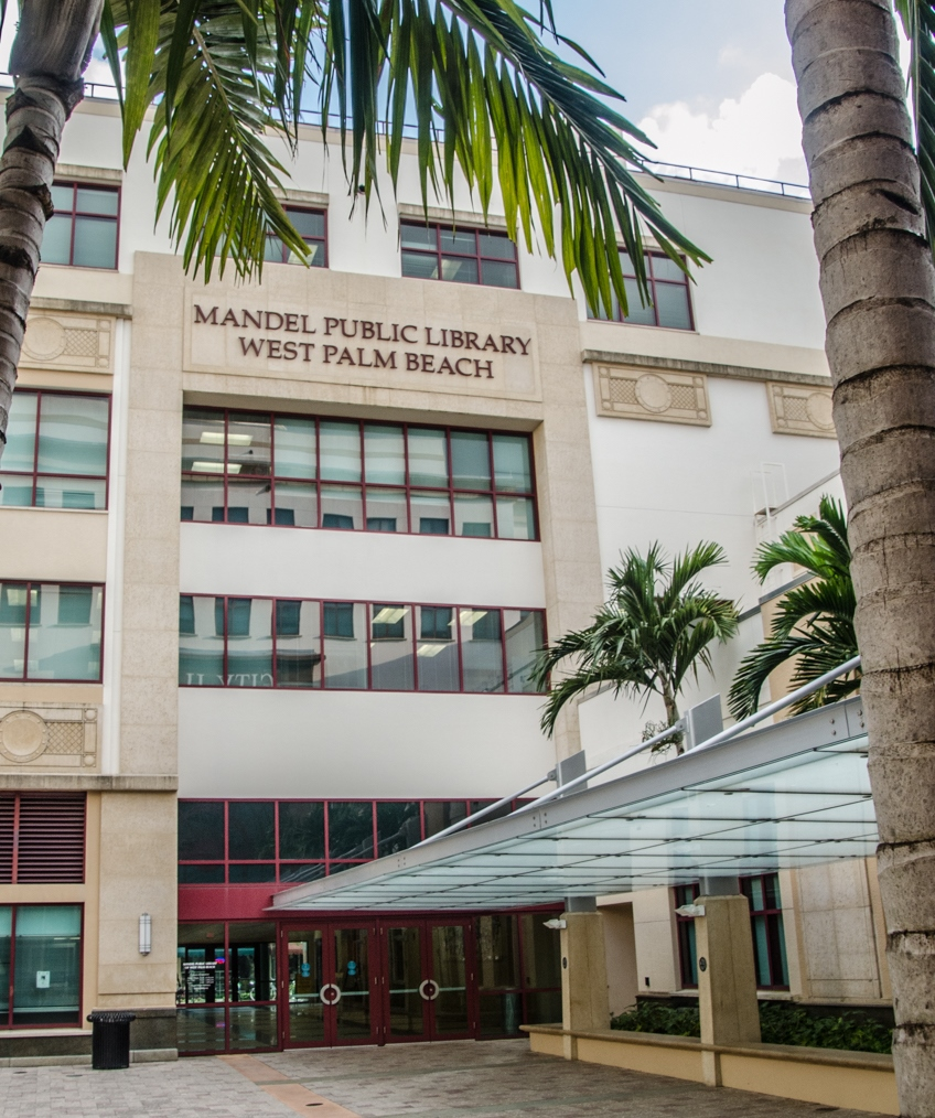 Mandel Public Library West Palm Beach Entrance