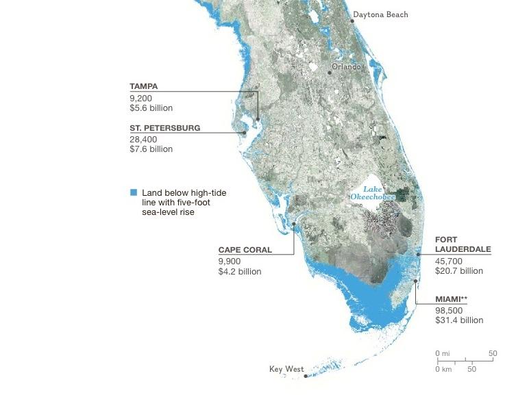 Florida Climate Change Map Climate Change | West Palm Beach, FL
